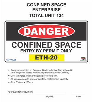 CONFINED SPACE Sibelco ENTERPRISE